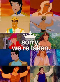 Haha so funny! You have to love all the Disney princes!
