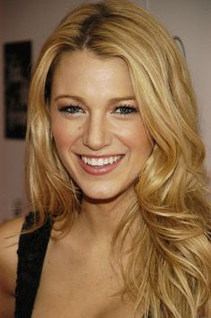 Blake Lively. Wedding makeup, blonde with gray eyes
