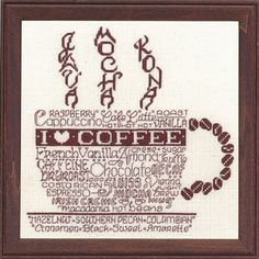 LET'S DO COFFEE - Counted Cross Stitch Pattern