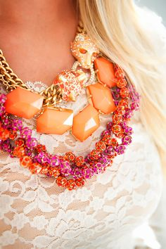 Inspired by these colors - Jewelry: J Crew   Photographer: Candace Simpson of Elegant Images