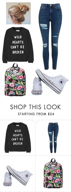 """Lazy School Day"" by lukeisalibero ❤ liked on Polyvore featuring Zoe Karssen, Topshop, Converse and Vans"