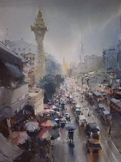 Watercolor by Myint Naing , from Iryna