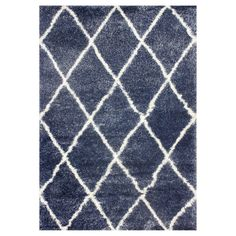 """nuLOOM Diamond Shag Area Rug - Blue (5' 3"""" x 7' 6"""")"""