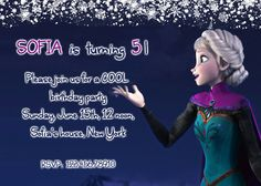 Disney's Frozen Frozen Elsa Frozen Birthday by AnastasiaArtDesigns, $8.99 Frozen Frozen, Frozen Party, Disney Frozen, Frozen Birthday Invitations, Rsvp, Elsa, Birthday Parties, Birthday Celebrations, Jelsa