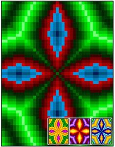 Compass Arrowheads Quilt Pattern RMT-0067e Pattern designed by Sheri Rector of Rainbow Moon Treasures