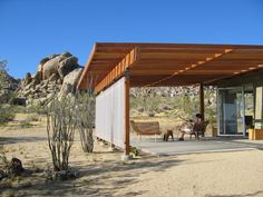 Joshua Tree Vacation Rental - VRBO 443926 - 1 BR Deserts Cabin in CA, 'Modernist Jewel' on National Park Border, Surrounded by Boulders