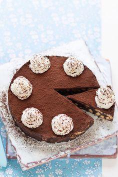 Torta di biscotti al cioccolato, fredda e senza cottura