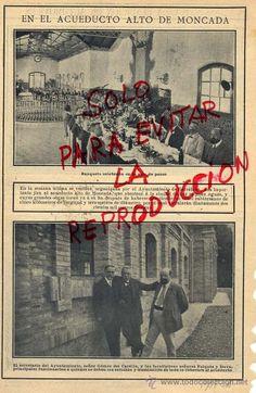 MONCADA 1908 ACUEDUCTO ALTO BARCELONA HOJA REVISTA