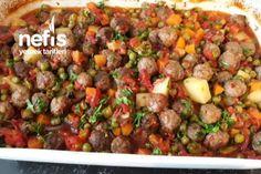 Fırında Garnitürlü Köfte Tarifi Meat Recipes, Cooking Recipes, Turkish Recipes, Ethnic Recipes, Iftar, Kung Pao Chicken, Food And Drink, Vegetables, Youtube
