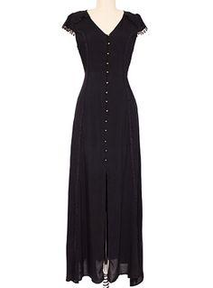 Steampunk Victorian long dress, Dark Beauty Long Dress $69.00 AT vintagedancer.com