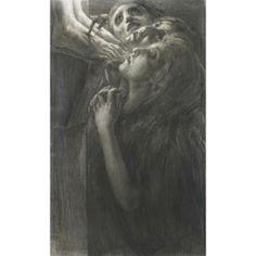 mary magdalen foot of cross | Gaetano Previati (1852–1920)
