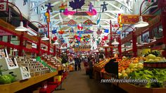 Stalls of Fresh Produce and Packaged Foods at Saint John City Market in Saint John, New Brunswick
