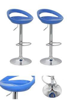 Blue Modern Bar Stools Set Of 2 Plastic Metal Kitchen Pub Home High Chairs Seat Cool Bar Stools, Modern Bar Stools, Metal Stool, High Chairs, Home Kitchens, Kitchen Remodel, Plastic, Canning, Blue