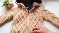 Вязаная курточка на мальчика 1,5 - 2 лет на подкладке, с молнией - YouTube Crochet Doll Pattern, Knitting Patterns, Knit Crochet, Baby Baskets, Knitting Videos, Crochet Clothes, Handmade Crafts, Kids And Parenting, Baby Knitting