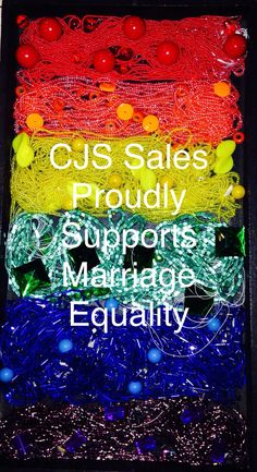 @cjs_sales proudly supports #marriageequality! Bead your pride and show the world your support!