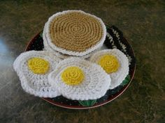 Got to crochet my kids some pancakes and eggs!!