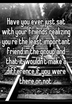 Someone from Brookfield posted a whisper, which reads Have you ever just sat wit… - Zitate Quotes Deep Feelings, Hurt Quotes, Real Quotes, Mood Quotes, Funny Quotes, Life Quotes, Left Out Quotes, Qoutes, Change Quotes