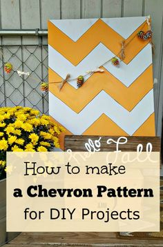 Have you ever struggled to paint a Chevron pattern?  Click through for my easy step by step guide on how to make a Chevron pattern for all your DIY projects.