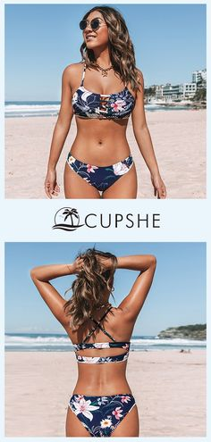 We're ready for our next adventure when wearing this Navy Floral Cutout Bikini. We're ready for our next adventure when wearing this Navy Floral Cutout Bikini. Summer Bathing Suits, Cute Bathing Suits, Summer Swimwear, Vacation Outfits, Summer Outfits, Cute Outfits, Pool Fashion, Swimwear Fashion, Fashion Shopping Apps