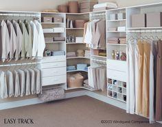 DIY walk in closets | Long hanging – Long dresses Medium hanging – Shorter dresses ...
