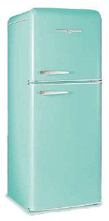 Retro turquoise fridge reproductions!! via  http://www.antiqueappliances.com/reproductions.htm