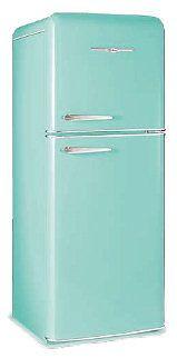 Retro turquoise fridge reproductions!! via  http://www.antiqueappliances.com/reproductions.htm