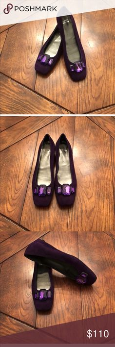 💄Just In💄 Stuart Weitzman Shoes Purple suede Stuart Weiztman bejeweled shoe. Purchase by 4:00 pm CT for same day delivery. Stuart Weitzman Shoes Flats & Loafers