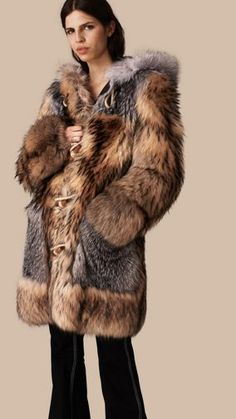 Oversize Raccoon Duffle Coat