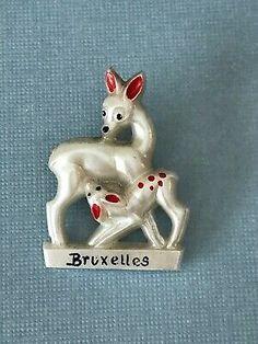 Vintage 1950s Bruxelles Brussels Belgium Pearlized Deer Fawn Plastic Pin Brooch | eBay Brussels Belgium, Merry Christmas Everyone, Brooch Pin, Deer, Ebay, Vintage, Brooch, Vintage Comics, Reindeer