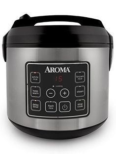 The new and improved Aroma 20-Cup Digital 3-in-1 Rice Cooker, Food Steamer and Slow Cooker is designed to cook a good variety of dishes. The new function Flash Rice cooks those tough-to-cook grains quicker. Now get your homemade dinner ready in a snap! This convenient cooker perfectly yields 4... more details available at https://www.kitchen-dining.com/blog/small-appliances/product-review-for-aroma-housewares-20-cup-cooked-10-cup-uncooked-digital-rice-cooker-slow-cooker-food-