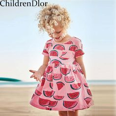 75452fed9b512 Girls Summer Dress 2017 Cotton Robe Fille Enfant Princess Dress Girl  Costumes for Kids Party Dress