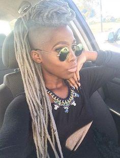 She's Pulling Off That Grey Tho @beatricenikole - http://community.blackhairinformation.com/hairstyle-gallery/locs-faux-locs/shes-pulling-off-grey-tho-beatricenikole:
