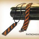 Black and orange beads set for every day. Thin bracelet and drawstring Necklace Lengths, Handmade Items, Orange, Beads, Pendant, Day, Bracelets, Beading