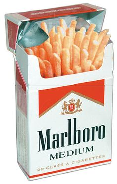 McDonald's and Marlboro team up to create new McMarlboro Fries! A nicotine concentration added to the frying oil gives your favorite French fry the kick it was missing!