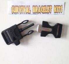 fire stater buckles now in packs of 2, and 4 make your own paracord survival bracelet with the most useful survival tool you can wear on your wrist