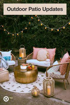 Back Patio, Small Patio, Backyard Patio, Outdoor Spaces, Outdoor Living, Outdoor Decor, Outdoor Furniture, Backyard Makeover, Decks And Porches