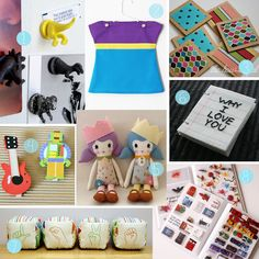 The How-To Gal: DIY Christmas Gift Guide For Children - 2012. Those dolls are so cute!
