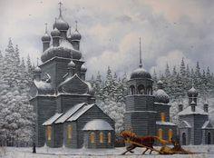 Коллекция картинок: Живопись Маркова Владимира_ Русская зима