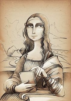 Leonardo da Vinci e l'arte del Personal Branding (in 10 passi) Mona Lisa Louvre, Lisa Gherardini, Mona Lisa Parody, Mona Lisa Smile, Digital Art Girl, Hippie Art, Collages, Art Plastique, Fantasy Art