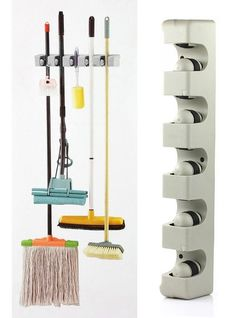 $10 off per $100 order+ Plastic Wall Mounted 5 Position Kitchen Storage Mop Broom Organizer Holder Tool-in Storage Holders & Racks from Home & Garden on Aliexpress.com | Alibaba Group