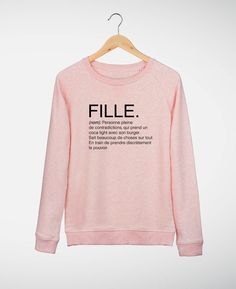 Sweat-shirt Femme Fille. Rose by Madame TSHIRT