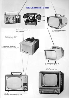 Portable TV sets of the 60s