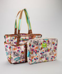 f63023ccaf3 Loving this Lily Bloom Up in the Air Computer Tote  amp  Sleeve on  zulily