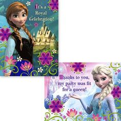 Frozen thank you note frozen party pinterest frozen party frozen invitations thank you notes for 8 party guests party city stopboris Gallery