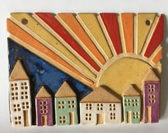 Wall hangings, ceramic wall hanging, wall decoration, wall ornament, wall hanging house picture, wall plaque, ceramic home decor,