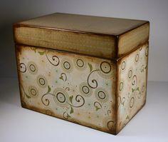 Super cute antiqued recipe box.