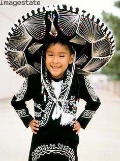 Child in national costume, Mexico