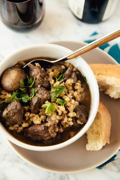 Recipe: Slow-Cooker Beef and Barley Stew — Uncommon Grain Recipes from The Kitchn | The Kitchn