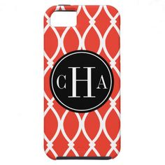 Monogrammed Barcelona in Guava iPhone 5 Cases