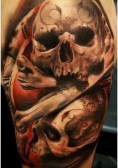 tribal skull tattoos designs